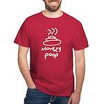 monkey poop Black/Dark T-Shirt