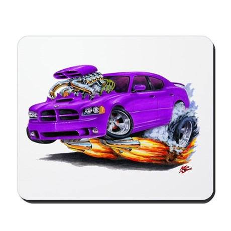 Dodge Charger Purple Car Mousepad