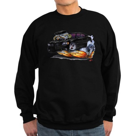 Dodge Charger Black Car Sweatshirt (dark)
