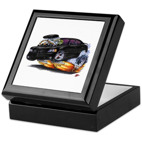 Dodge Charger Black Car Keepsake Box