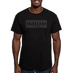 NIGHT CAMO Men's Fitted T-Shirt (dark)
