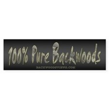 100% Backwoods Bumper Bumper Sticker