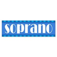 Music Soprano Bumper Bumper Sticker