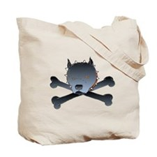 Skull Kennel Pit Bull and Crossbones Tote Bag