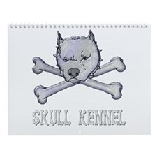 Pit Bull and Crossbones Wall Calendar