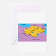 Arsacid / Arshakuni Map Greeting Card