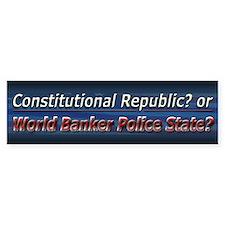 World Banker Politics - Car Sticker