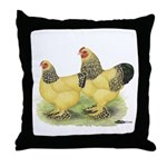 Buff Brahma Pair Throw Pillow