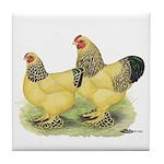 Buff Brahma Pair Tile Coaster