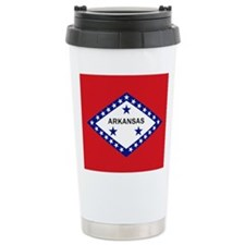Arkansas State Flag Travel Mug
