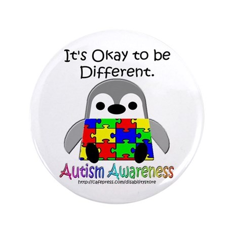 """AA Penguin 3.5"""" Button (100 pack)"""