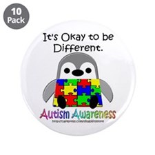 """AA Penguin 3.5"""" Button (10 pack)"""