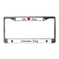 We Love Our Canaan Dog License Plate Frame