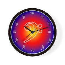 Fireball Bass Clef Wall Clock