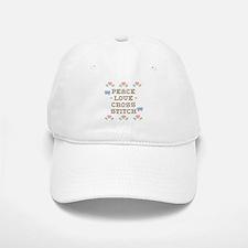 Peace Love Cross Stitch Baseball Baseball Cap