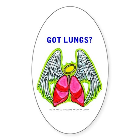 Got Lungs Oval Sticker