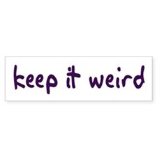 Keep it Weird Bumper Bumper Sticker
