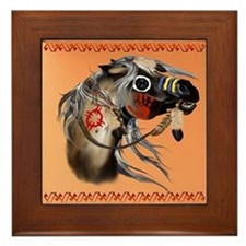 War Horse Framed Tile