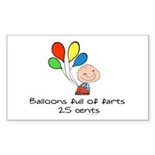 Balloons full of farts.. Rectangle Decal
