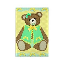 Baby Teddy Bear Rectangle Magnet