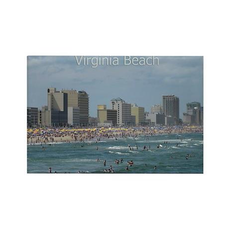 Virginia Beach - Beachfront Rectangle Magnet