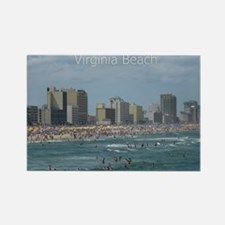 Virginia Beach - Beachfront Rectangle Magnet