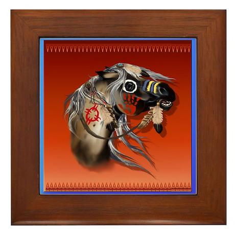 War Horse Framed Framed Tile