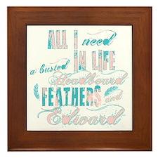 Headboard feathers & Edward Framed Tile