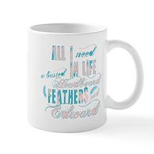 Headboard feathers & Edward Mug
