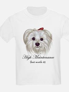 Captioned Maltese T-Shirt