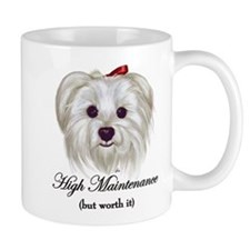 Captioned Maltese Small Mug