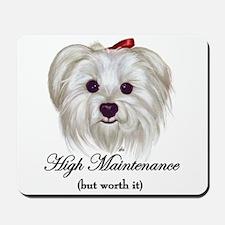 Captioned Maltese Mousepad