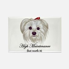 Captioned Maltese Rectangle Magnet