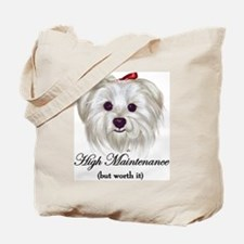 Captioned Maltese Tote Bag