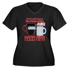 Dark Side Women's Plus Size V-Neck Dark T-Shirt