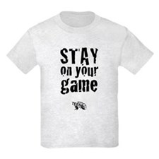 Stay on Your Game Kids Tee w/Logo