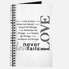 Love Never Fails Journal