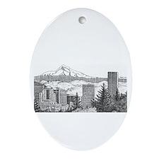 Portland/Mt. Hood Oval Ornament