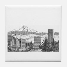 Portland/Mt. Hood Tile Coaster