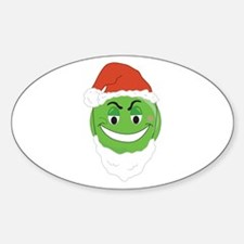 GRINCH SMILEY! Oval Decal