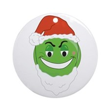 GRINCH SMILEY! Ornament (Round)