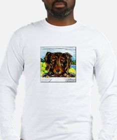 Dacshund Drives to Beach Long Sleeve T-Shirt