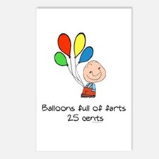 Balloons full of farts.. Postcards (Package of 8)