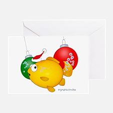 Christmas goldfish Greeting Card