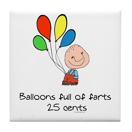 Balloons full of farts.. Tile Coaster