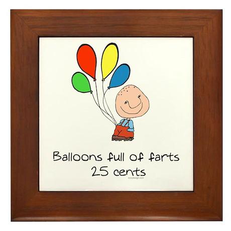 Balloons full of farts.. Framed Tile