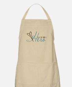 In Love With a Hero BBQ Apron