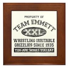 Property of Team Emmett Framed Tile