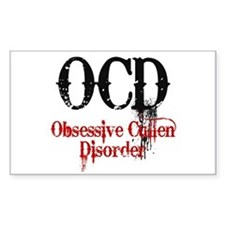 OCD- Obsessive Cullen Disorder Rectangle Decal