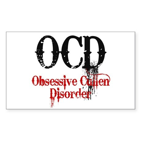 OCD- Obsessive Cullen Disorder Rectangle Sticker